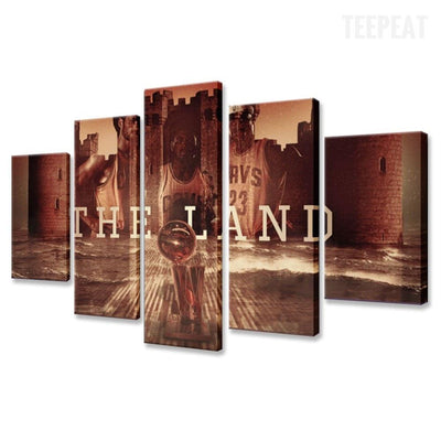 TEEPEAT Canvas Cleveland Cavaliers NBA Star Player - 5 Piece Canvas