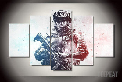TEEPEAT Canvas COD - Colored Warfare - 5 Piece Canvas Painting