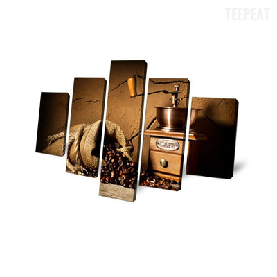 TEEPEAT Canvas Coffee and Grinder - 5 piece canvas