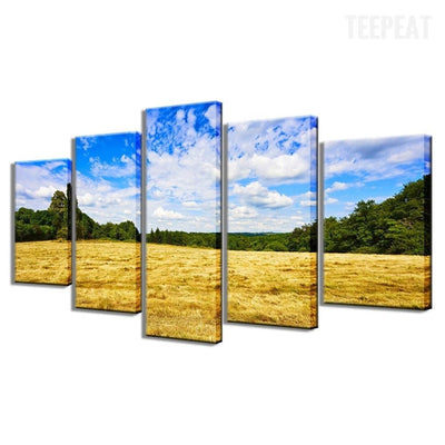 TEEPEAT Canvas Countryside 5 Piece Canvas