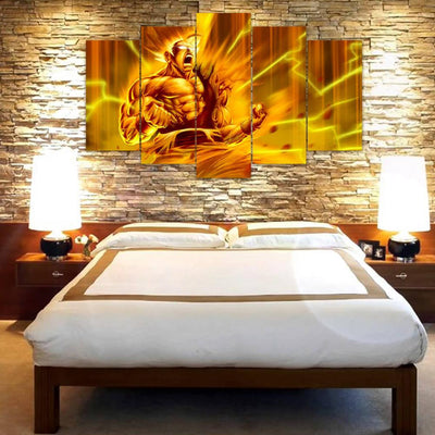 "TEEPEAT Canvas DBZ ""Goku Super Saiyan"" - 5 Piece Canvas Painting"