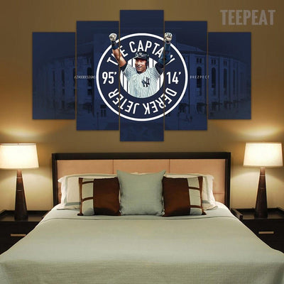 "TEEPEAT Canvas Derek Jeter ""Farewell""  - 5 Piece Canvas Painting"