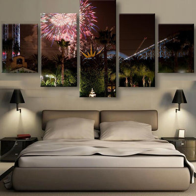 TEEPEAT Canvas Disney At Night Time V2 - 5 Piece Canvas