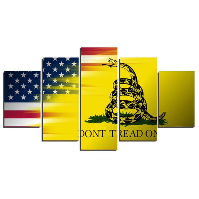 TEEPEAT Canvas Don't Tread On Me - 5 Piece Canvas Painting