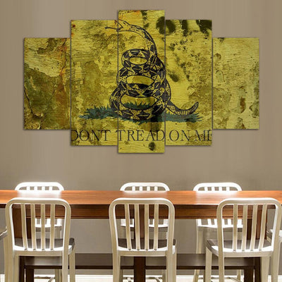 "TEEPEAT Canvas Don't Tread on Me ""Classic"" - 5 Piece Canvas Painting"