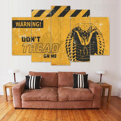 TEEPEAT Canvas Don't Tread on me v4 - 5 Piece Canvas Painting