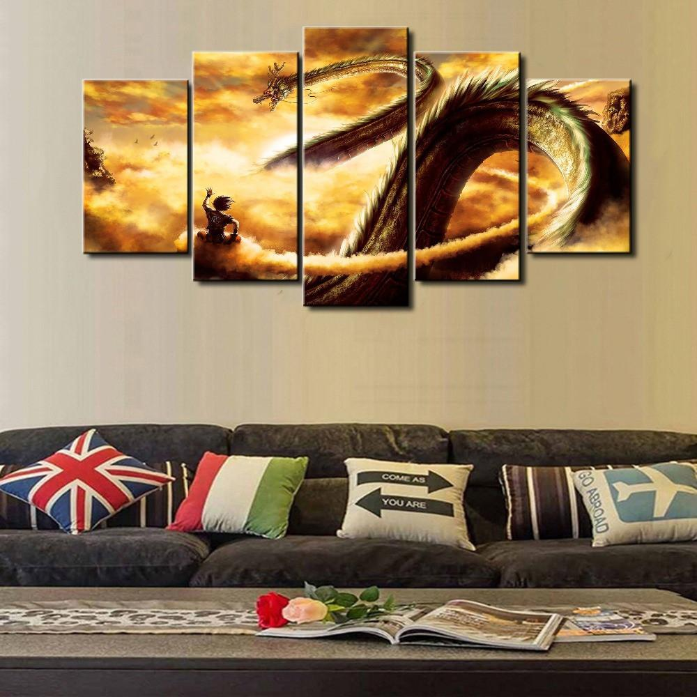 Dragon Ball Cuadros For Living Room - 5 Piece Canvas Painting ...