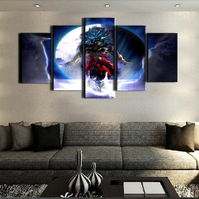 TEEPEAT Canvas Dragon Ball In Action Fight- 5 Piece Canvas Painting