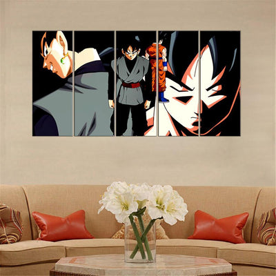 TEEPEAT Canvas Dragon Ball Z: Goku Painting - 5 Piece Canvas
