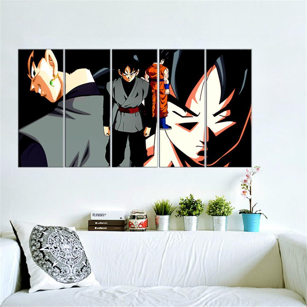 Dragon ball z goku painting 5 piece canvas empire prints teepeat canvas dragon ball z goku painting 5 piece canvas amipublicfo Images