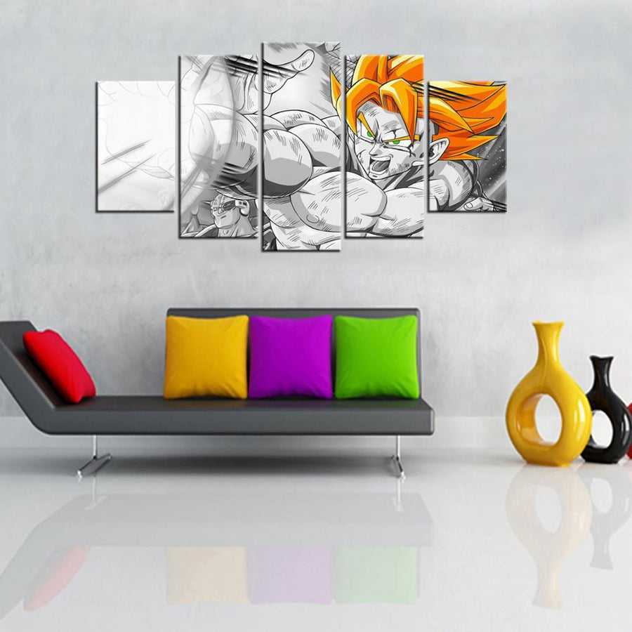 Dragon Ball Z V3 Painting - 5 Piece Canvas