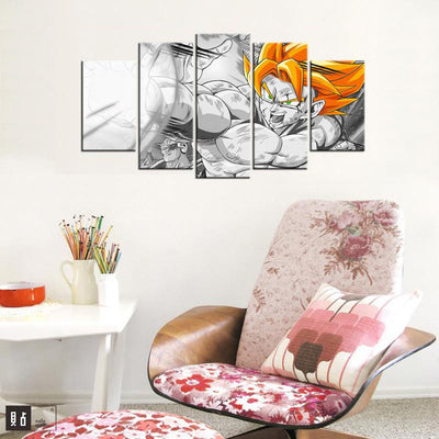 TEEPEAT Canvas Dragon Ball Z V3 Painting - 5 Piece Canvas
