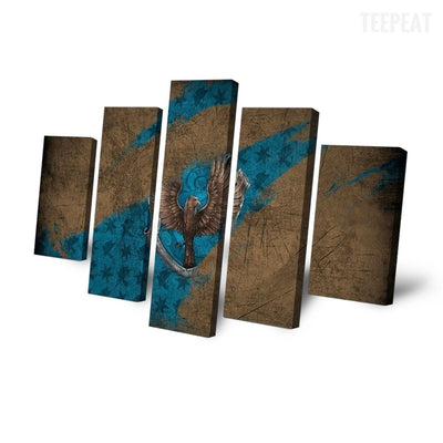 TEEPEAT Canvas Eagle Scenery - 5 Piece Canvas Painting