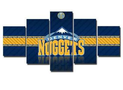 TEEPEAT Canvas Medium / Unframed 2017 Denver Nuggets Banner - 5 Piece Canvas Painting