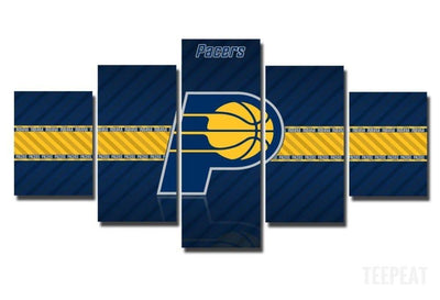 TEEPEAT Canvas Medium / Unframed 2017 Indiana Pacers Banner - 5 Piece Canvas Painting