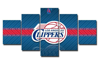 TEEPEAT Canvas Medium / Unframed 2017 Los Angeles Clippers - 5 Piece Canvas Painting