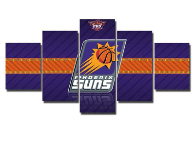 TEEPEAT Canvas Medium / Unframed 2017 Phoenix Suns Banner - 5 Piece Canvas Painting
