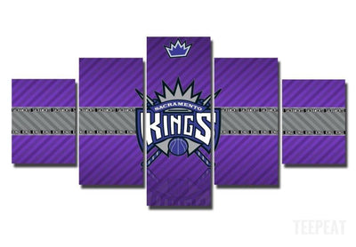 TEEPEAT Canvas Medium / Unframed 2017 Sacramento Kings Banner - 5 Piece Canvas Painting