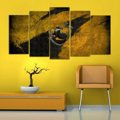 TEEPEAT Canvas Medium / Unframed Abstract Animal Scenery - 5 Piece Canvas