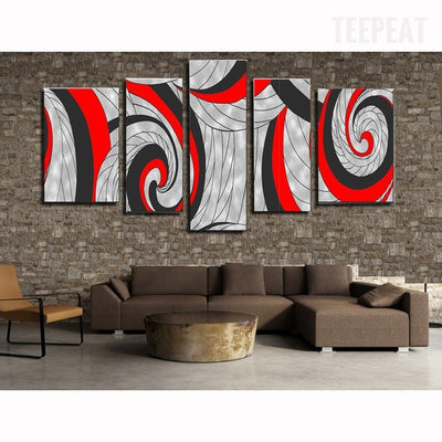 TEEPEAT Canvas Medium / Unframed Abstract Lines Cuadros - 5 Piece Canvas