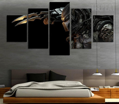 TEEPEAT Canvas Medium / Unframed Alien Vs. Predator Painting - 5 Piece Canvas
