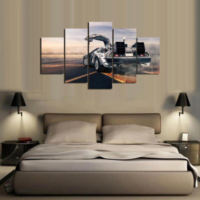 TEEPEAT Canvas Medium / Unframed Back To The Future - 5 Piece Canvas Painting