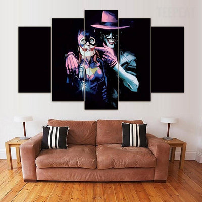 TEEPEAT Canvas Medium / Unframed Batman: The Killing Joke - 5 Piece Canvas Painting