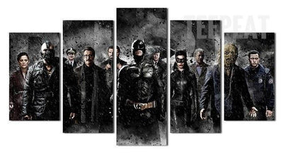 TEEPEAT Canvas Medium / Unframed Batman The Movie - 5 Piece Canvas