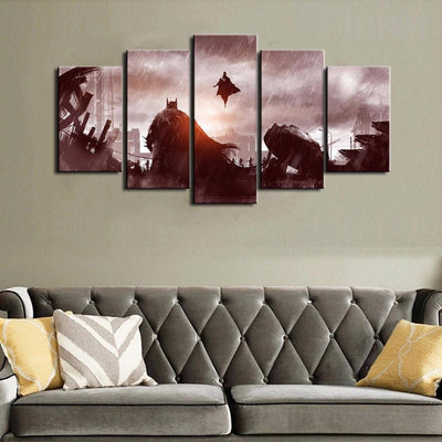 TEEPEAT Canvas Medium / Unframed Batman Vs Superman - 5 Piece Canvas Painting