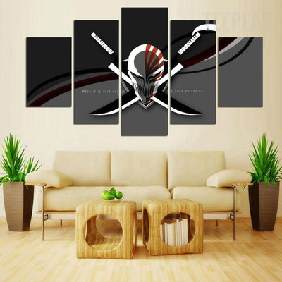 TEEPEAT Canvas Medium / Unframed Bleach Skull Painting - 5 Piece Canvas
