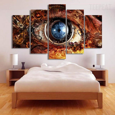 TEEPEAT Canvas Medium / Unframed Blue Eyes - 5 Piece Canvas
