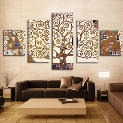 TEEPEAT Canvas Medium / Unframed Brown Tree Branches Cuadros - 5 Piece Canvas