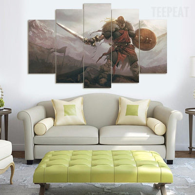 TEEPEAT Canvas Medium / Unframed Brutal Times - 5 Piece Canvas Painting