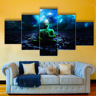 TEEPEAT Canvas Medium / Unframed Buddha Painting - 5 Piece Canvas