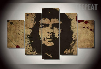 TEEPEAT Canvas Medium / Unframed Che Guevara Freedom Painting - 5 Piece Canvas