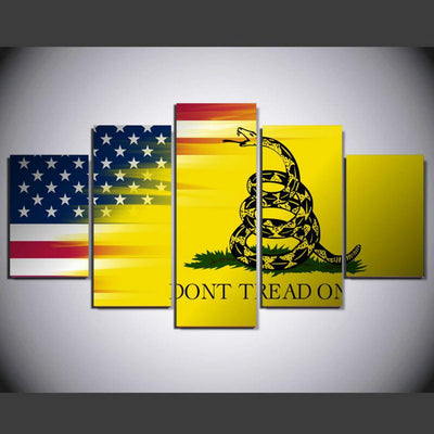 TEEPEAT Canvas Medium / Unframed Don't Tread On Me - 5 Piece Canvas Painting
