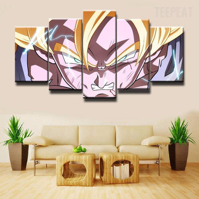 TEEPEAT Canvas Medium / Unframed Dragon Ball Z V2 - 5 Piece Canvas Painting