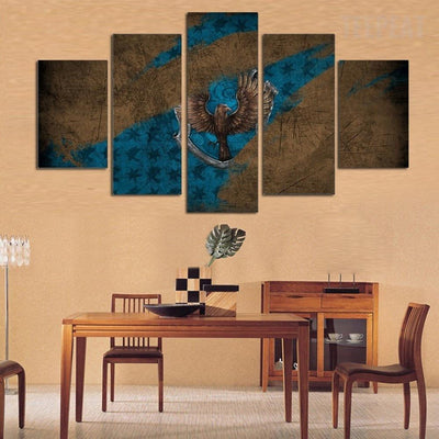 TEEPEAT Canvas Medium / Unframed Eagle Scenery - 5 Piece Canvas Painting