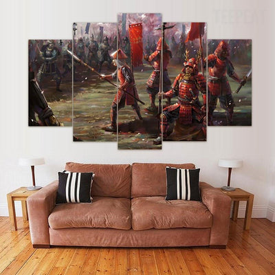 "TEEPEAT Canvas Medium / Unframed ""The Last of Us"" Samurai - 5 Piece Canvas Painting"