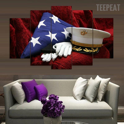 "TEEPEAT Canvas Medium / Unframed ""The True Heroes"" - 5 Piece Canvas Painting"