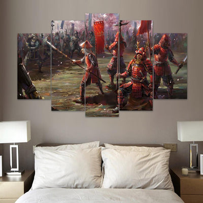 "TEEPEAT Canvas ""The Last of Us"" Samurai - 5 Piece Canvas Painting"