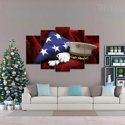 "TEEPEAT Canvas ""The True Heroes"" - 5 Piece Canvas Painting"