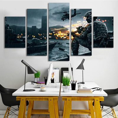 TEEPEAT Canvas unframed / medium Call of Duty : Modern Warfare - 5 piece canvas