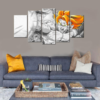 TEEPEAT Canvas Unframed / Medium Dragon Ball Z V3 Painting - 5 Piece Canvas