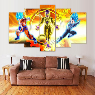 "TEEPEAT Canvas Unframed / Medium ""The Enemy of My Enemy is My Friend"" DBZ - 5 Piece Canvas Painting"