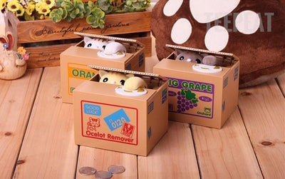 TEEPEAT coin bank Cat Automatic Coin Bank