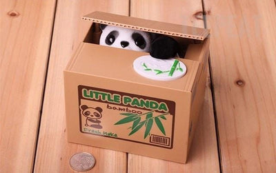 TEEPEAT coin bank Panda Cat Automatic Coin Bank
