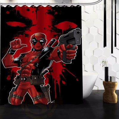 TEEPEAT Custom Made Deadpool V2 Shower Curtain