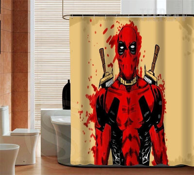 TEEPEAT Custom Made Deadpool V7 Shower Curtain