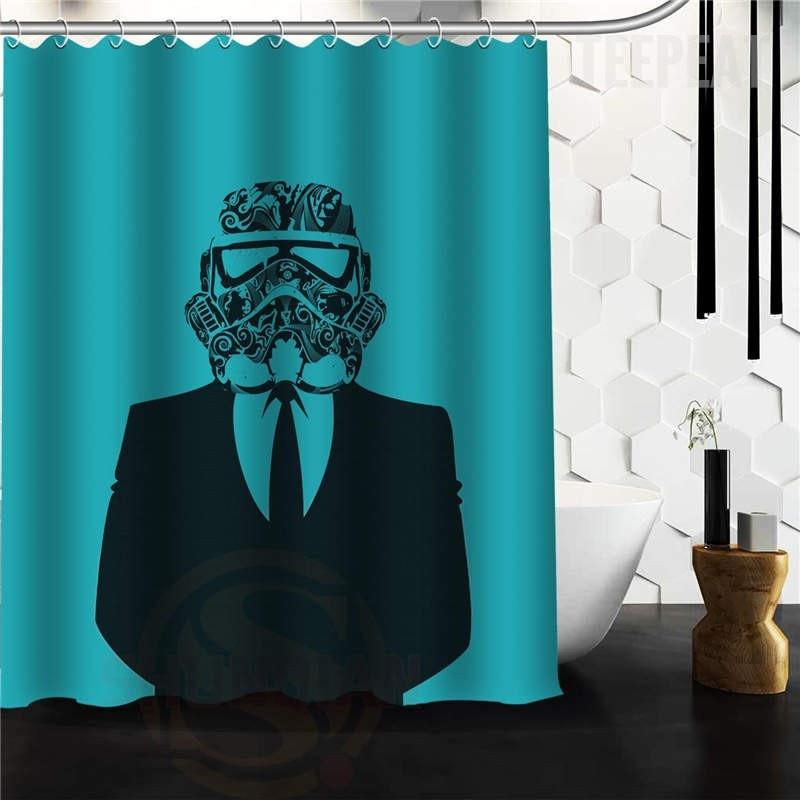 TEEPEAT Custom Made Star Wars Stormtrooper Shower Curtain